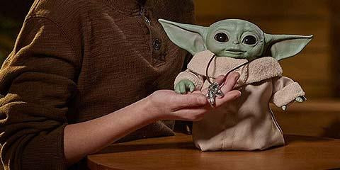 Hasbro Animatronic Baby Yoda Can Close the Eyes, Summon the Force and More