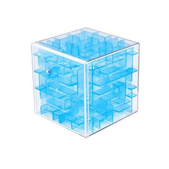 CoolStuffHouse 3D Brain Development Toy Maze Cube Transparent Blue