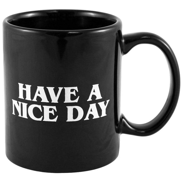 Creative Black Have A Nice Day Cool Mug Cup Middle Finger Style HOME-GARDEN KITCHEN