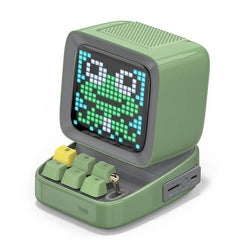 CoolStuffHouse Divoom Ditoo Pixel Art Portable Bluetooth Speaker Alarm Clock by App CHINA / Army Green / Speaker