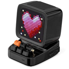 CoolStuffHouse Divoom Ditoo Pixel Art Portable Bluetooth Speaker Alarm Clock by App CHINA / Black / Speaker