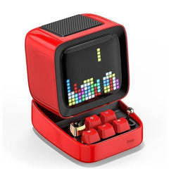 CoolStuffHouse Divoom Ditoo Pixel Art Portable Bluetooth Speaker Alarm Clock by App CHINA / Red / Speaker