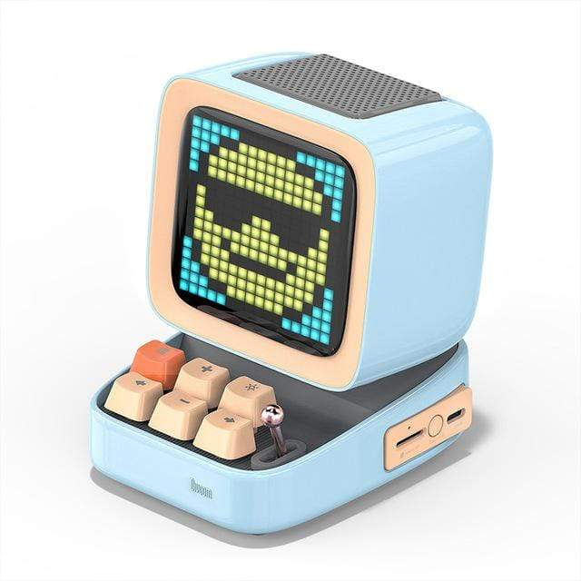 CoolStuffHouse Divoom Ditoo Pixel Art Portable Bluetooth Speaker Alarm Clock by App CHINA / Sky Blue / Speaker