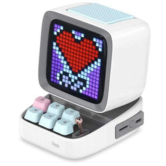 CoolStuffHouse Divoom Ditoo Pixel Art Portable Bluetooth Speaker Alarm Clock by App CHINA / White / Speaker