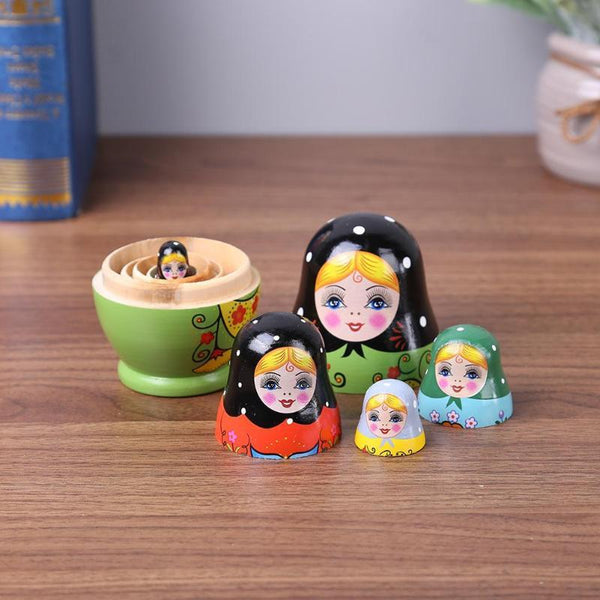 Eco-Friendly Handmade Painted Russian Matryoshka Doll Home Decoration FUN-GAMES TOYS