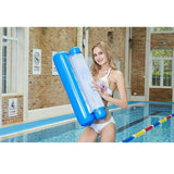 CoolStuffHouse Foldable Inflatable Floating Bed Cool Pool Stuff blue