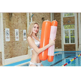CoolStuffHouse Foldable Inflatable Floating Bed Cool Pool Stuff Orange