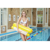 CoolStuffHouse Foldable Inflatable Floating Bed Cool Pool Stuff yellow