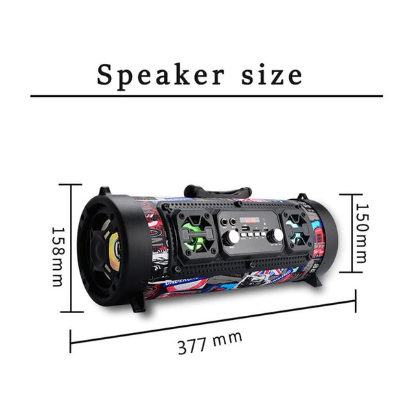 Gorgeous Looking Portable Cylinder Bluetooth Speaker TECH GADGETS SPEAKERS