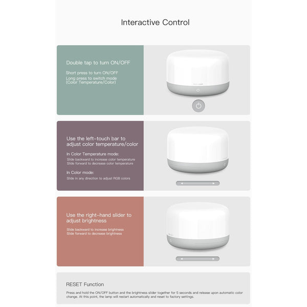Xiaomi Yeelight Bedside Lamp D2 Intelligent Table Lamp Voice Control HOME-GARDEN LAMPS
