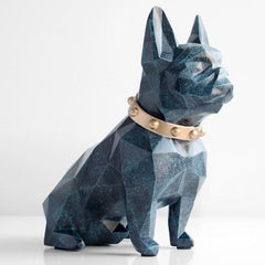 CoolStuffHouse LIVING ROOM Cute Dog Figurine Moneybox Cool Home Decoration Coin Storage Texture blue