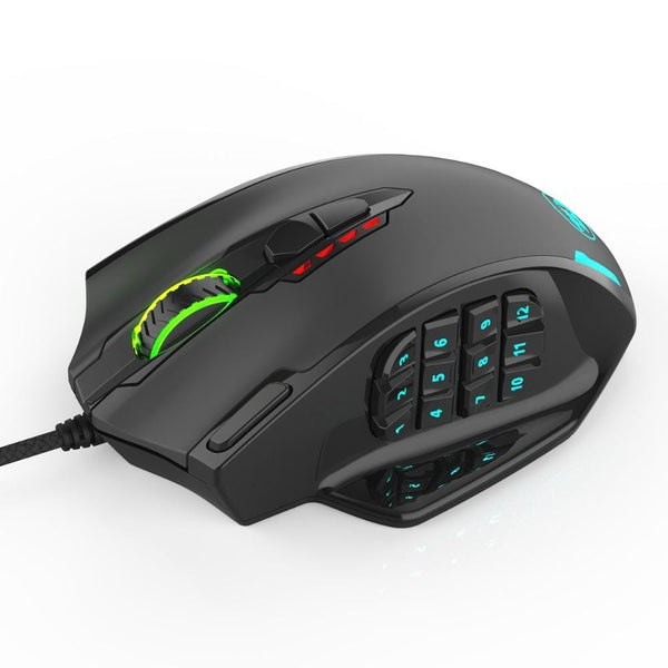 RGB LED Laser Wired  12400 DPI High Precision Gaming Mouse TECH GADGETS COMPUTER