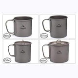 CoolStuffHouse Titanium Camping Mug A Necessary Item for Pİcnic or Travel