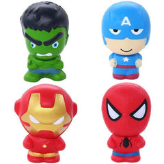 CoolStuffHouse TOYS New Cute Super Hero Squishy Spiderman Iron Man Hulk Slow Rising Soft Squeeze Toys
