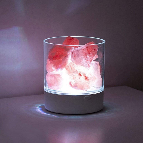 USB Rechargeable Himalayan Salt LED Lamp HOME-GARDEN LAMPS