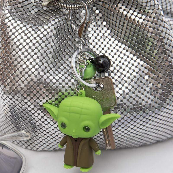 Baby Yoda Keychain Star Wars Action Figure The Force Awakens Key Rings FUN-GAMES TOYS