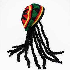 HOBBY-LIFESTYLE CLOTHING ACCESSORIES Hip Hop Bob Marley Style  Knitted Cap Gift for Geeks