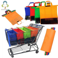HOBBY-LIFESTYLE OUTDOOR Awesome Foldable Cart Trolley Bag Reusable Eco Shopping Bags 01