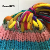 HOBBY-LIFESTYLE OUTDOOR Cool Gift Street Fashion Handmade Knitted Hat 01