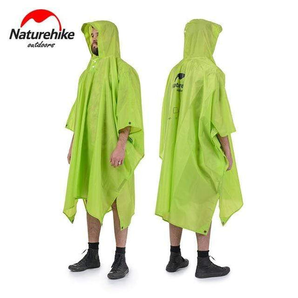 Naturehike Multifunction Poncho Raincoat For Hiking Fishing Mountaineering HOBBY-LIFESTYLE OUTDOOR