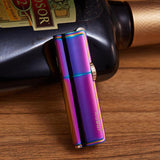 HOBBY-LIFESTYLE PARTY Waterproof Butane Gas Compact Turbo Cigarette Lighter 3 flames purple