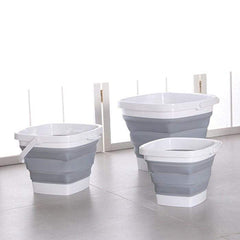 HOME-GARDEN BATHROOM Foldable Square Plastic Water Bucket Best Stuff for Home And Garden