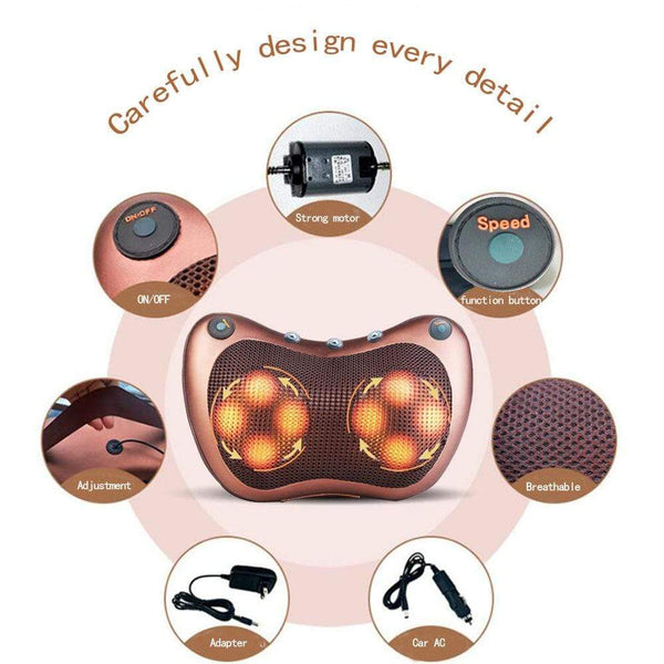 Electric Neck Massage Pillow Magnetic Therapy For Health HOME-GARDEN BEDROOM