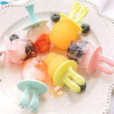 HOME-GARDEN KITCHEN 6 Grid Cute Sİlicon Animal Shape Cartoon Ice Cream Mold