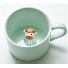 HOME-GARDEN KITCHEN Creative Cartoon Ceramic Mugs Cool Stuff to House Cow