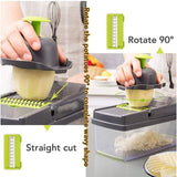 HOME-GARDEN KITCHEN Multifunctional Kitchen Cutting Kit Cool Accessories For Buy Grey and green