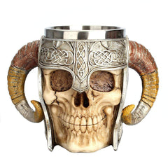HOME-GARDEN KITCHEN Stainless Steel Wiking Skull Mug Best Gift to Geeks 01
