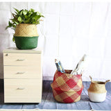 HOME-GARDEN LIVING ROOM Seagrass Decorative Wicker Storage Basket Awesome Thing for Home