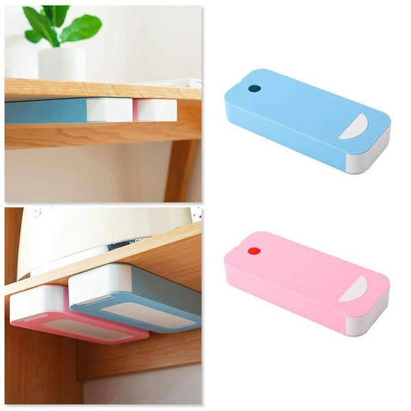 Plastic Under Table Hidden Desk Organizer Awesome Gadgets HOME-GARDEN OFFICE