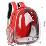 PET PRODUCTS CAT PRODUCTS Breathable Portable Pet Carrier Bag Transparent Backpack For Cat and Dog Red / see picture