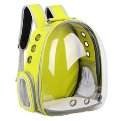 PET PRODUCTS CAT PRODUCTS Breathable Portable Pet Carrier Bag Transparent Backpack For Cat and Dog Yellow / see picture