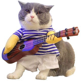 PET PRODUCTS CAT PRODUCTS Funny Pet Costume With Guitar for Cats and Dogs Halloween Party M
