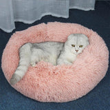 PET PRODUCTS CAT PRODUCTS Plush Cat Bed Comfortable Stuff to Cats Light pink / 60cm