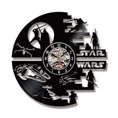 TECH GADGETS CLOCKS Star Wars Wall Clock with LED Vintage Vinyl Record Clocks A-NO LED