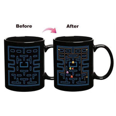 TECH GADGETS CREATIVE Magic Color Change Ceramic Pacman Coffee Cup 01