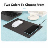 TECH GADGETS LIVING ROOM Wooden Texture Wireless Charging Mouse Pad