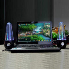 TECH GADGETS SPEAKERS Portable Wireless LED Light Dancing Water Speaker Best Stuff For Home Party