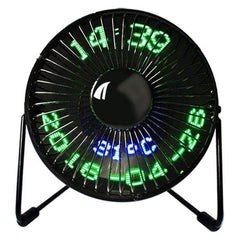 TECH GADGETS USB GADGETS Mini USB LED Clock Fan Awseome Stuff for Home Office 01