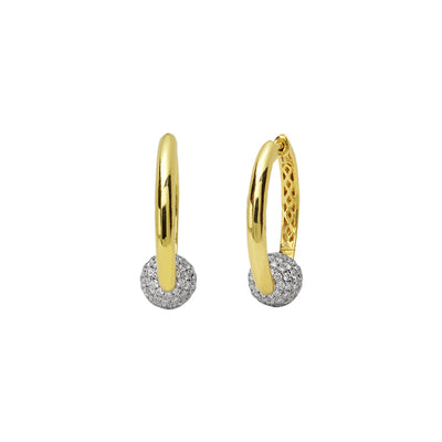 Diamond Moon Full Hoop Earring