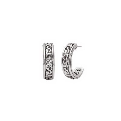 Silver Ivy Medium Half Hoop Earring