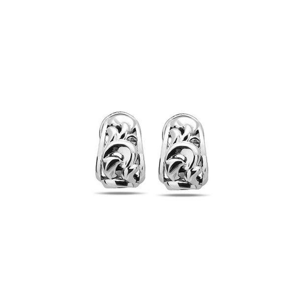 Silver Ivy Tapered Huggie Earring