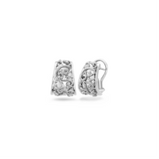Silver Ivy Lace Clip Earring
