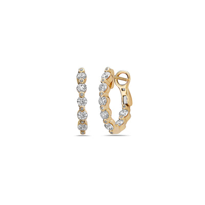 Diamond Pop Hoop Earring