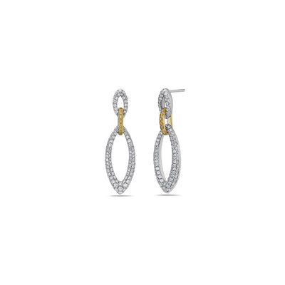 Diamond Drop Hoop Earring