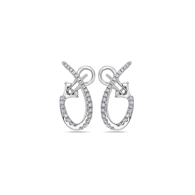 Diamond Twisted Hoop Earring