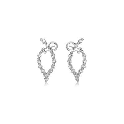 Diamond Wishbone Delicate Hoop Earring